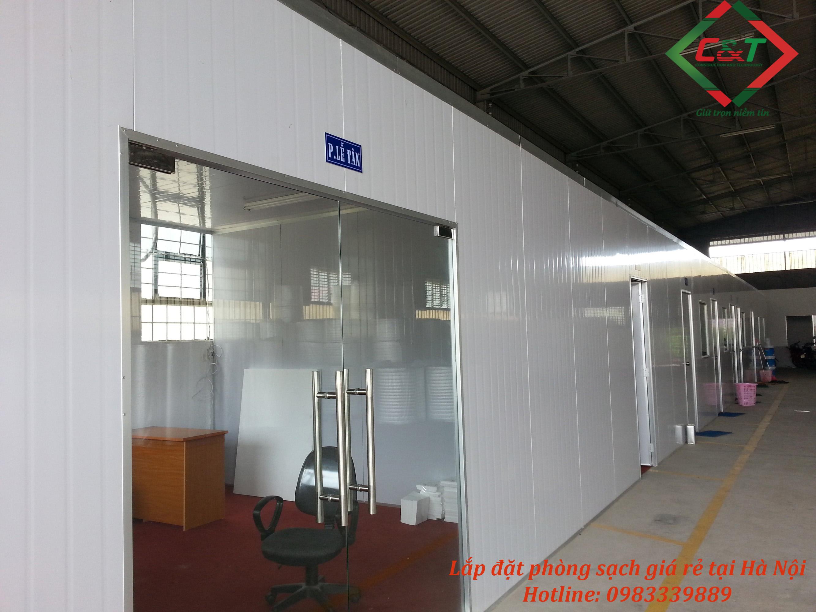 Lắp đặt phòng sạch uy tín tại Hà Nội