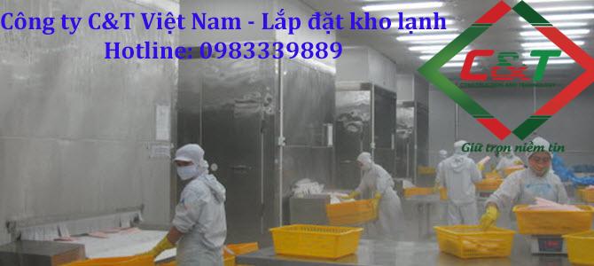 Lắp đặt kho lạnh bảo quản mực