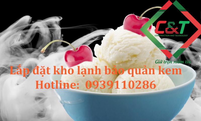 Lắp đặt kho lạnh bảo quản kem cốc