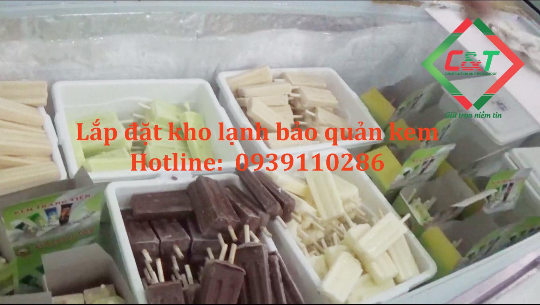 Lắp đặt kho lạnh bảo quản kem tại Hà Nội