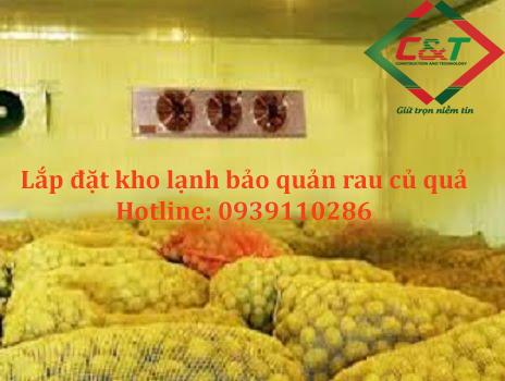 Lắp đặt kho lạnh bảo quản kho lạnh khoai tây